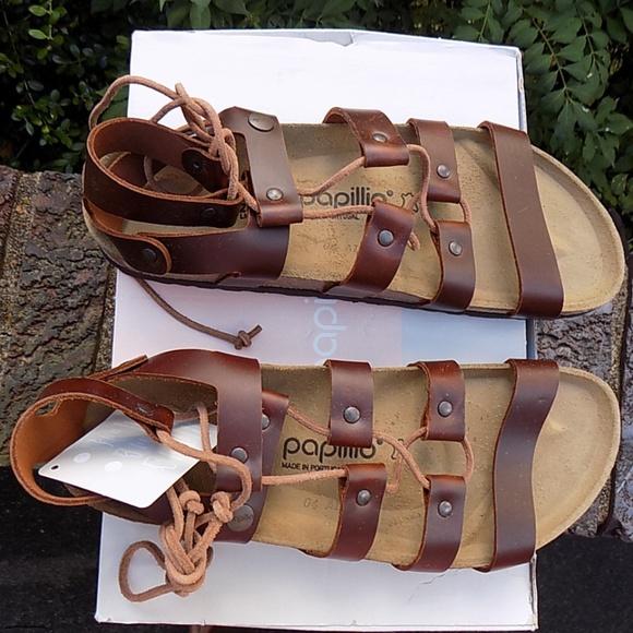 298a704a4a9 NIB Birkenstock Papillio Cleo Cognac Leather 40